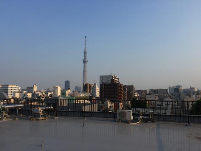 屋上からの眺め(スカイツリーが目の前に)